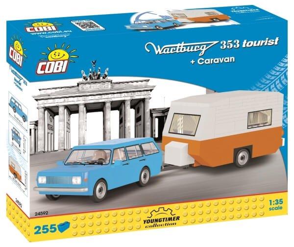 24591 COBI Wartburg 353 Tourist + Caravan