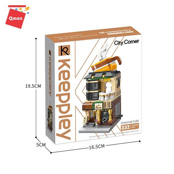 Keeppley by Qman C0102 City Corner Crossroad Cafe Kaffee