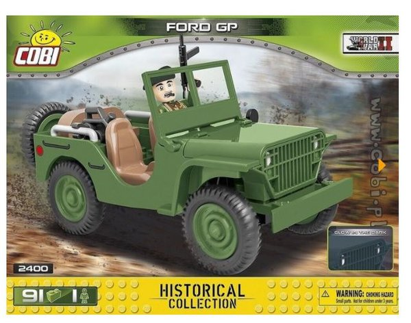 Cobi 2400 Ford GP US Truck (Historical Collection WWII) Pad printed - no Stickers