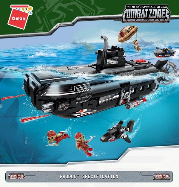 Qman 1730 Battle Forces Army Submarine Base U-Boot