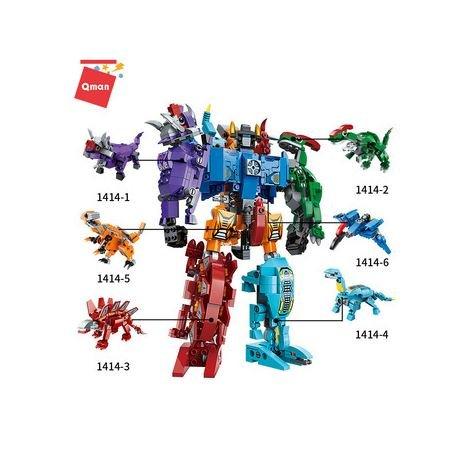 Qman 1414 Creative Master Transform Dino Roboter