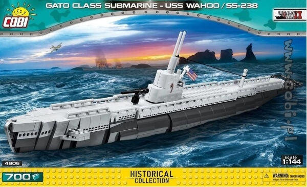4806 COBI AMERICAN SUBMARINE USS WAHOO