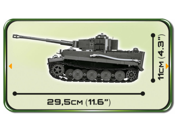 Cobi 2538 PZKPFW VI TIGER Ausf. E Pad printed - no Stickers (Historical Collection WWII)