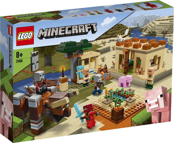 21160 LEGO® Minecraft Der Illager-Überfall