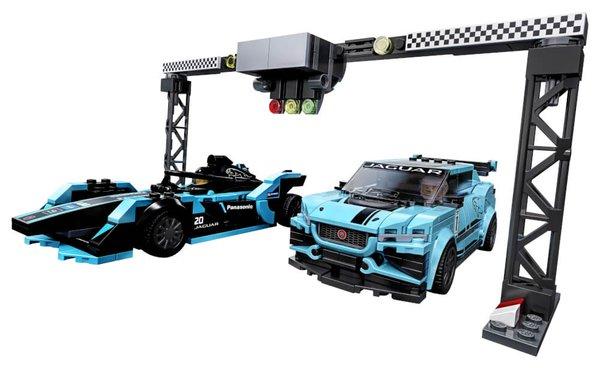 76898 LEGO® Speed Champions Formula E Panasonic Jaguar Racing GEN2 car & Jaguar I-PACE eTROPHY