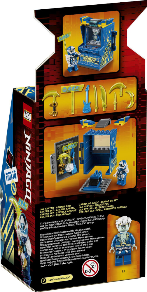 71715 LEGO® NINJAGO Avatar Jay - Arcade Kapsel