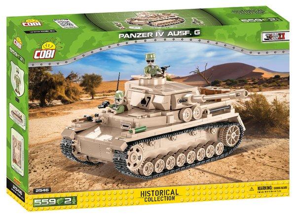 Cobi 2546 DAK Panzerkampfwagen IV Ausf.G - Pad Printed-
