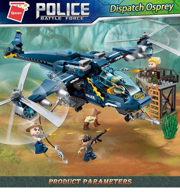Qman 1922 Wildlife Rescue Osprey Police Helicopter Hubschrauber