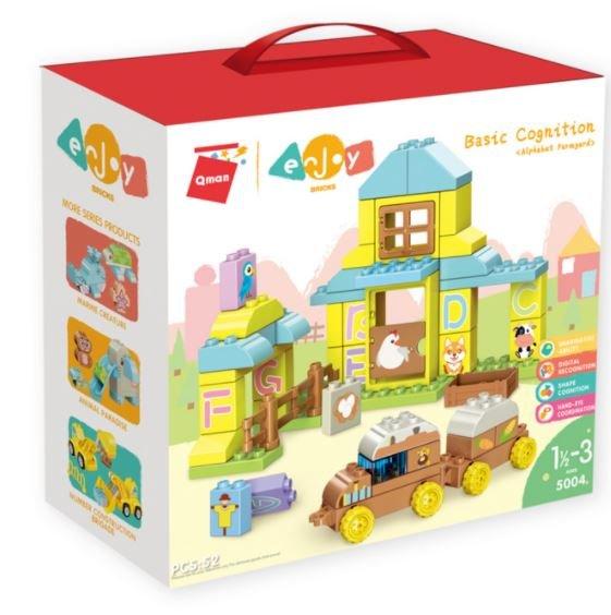 Qman 5004 Enjoy Kids Basic Farmyard ABC Bauernhof große Steine