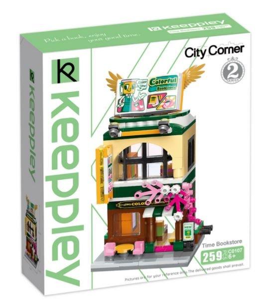 Keeppley by Qman C0107 City Corner 2 Buchhandlung Bücherladen Bookstore
