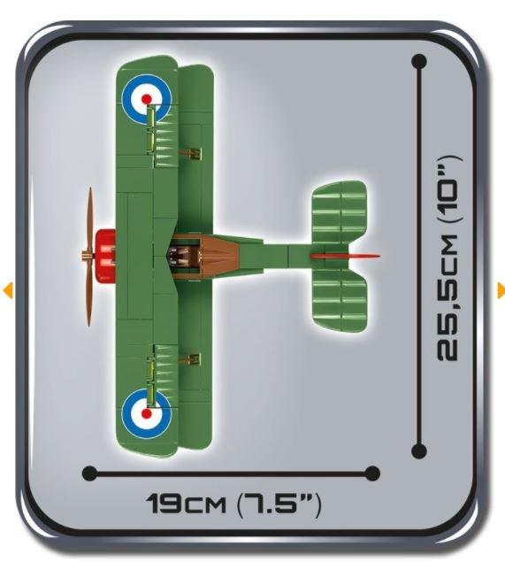 Cobi 2975 British Army Sopwith F.1 Camel Bi-Plane (Small Army Historical Collection WWI)