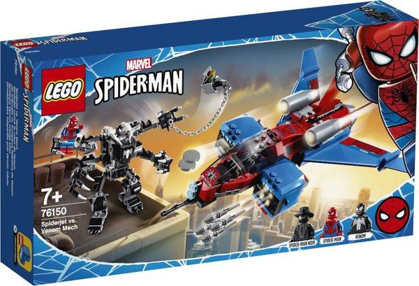 76150 LEGO® Marvel Super Heroes Spider-Men Spiderjet vs. Venom Mech