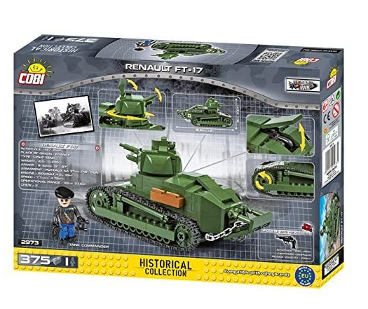 Cobi 2973 Tank Renault FT-17Pad printed - no Stickers (Small Army Historical Collection WWI) Panzer