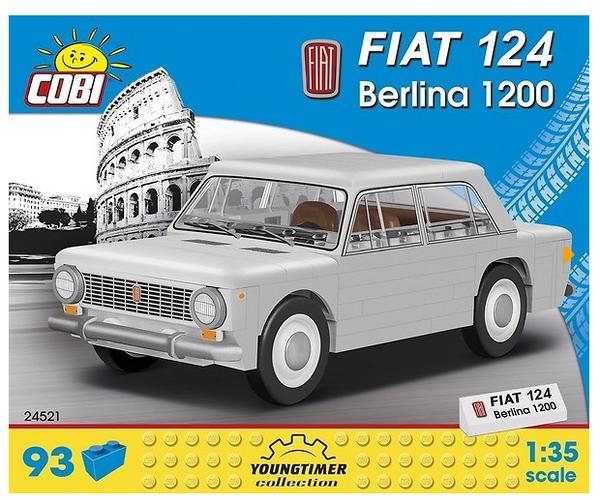 Cobi 24521 1967 Fiat 124 Berlina 1200 Pad printed (Youngtimer Collection)