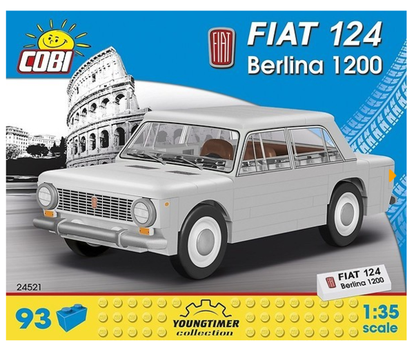 Cobi 24521 1967 Fiat 124 Berlina 1200 Pad printed (Youngtimer Collection)