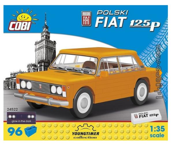 Cobi 24522 Polski Fiat 125p Pad printed - no Stickers (Youngtimer Collection)