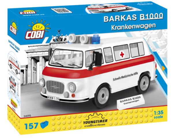 Cobi 24595 Barkas B1000 SMH3 Krankenwagen Pad printed (Youngtimer Collection)