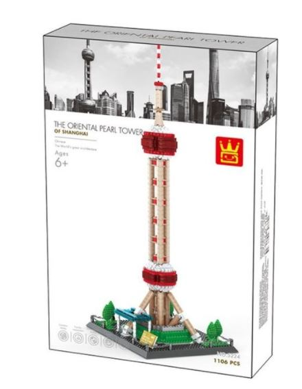 Wange 5224 Architect-Set The Oriental Pearl Tower of Shanghai 1106 Teile