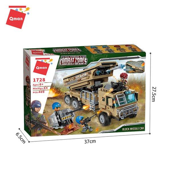 Qman 1728 Battle Forces Army Block Missile Car / Raketenwagen