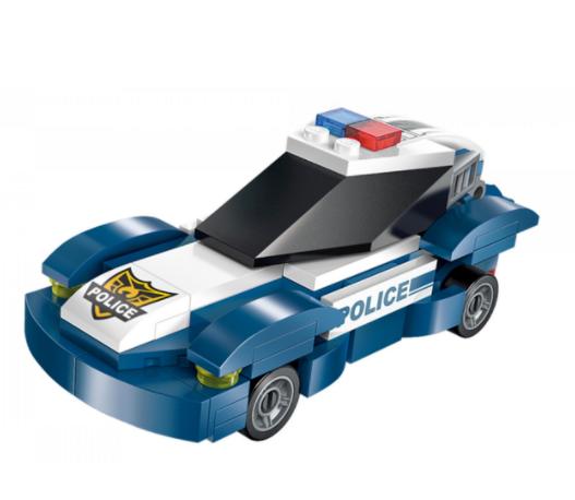 Qman 1407-4 Rescure Car / Transformer Polizeifahrzeug + Roboter