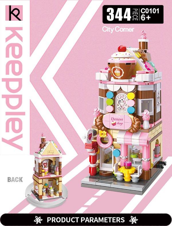 Keeppley by Qman C0101 City Corner Dessert Shop Süßwarenladen Konditorei