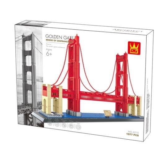 Wange 6210 Architect-Set The Golden Gate Bridge of San Fransisco 1977 Teile