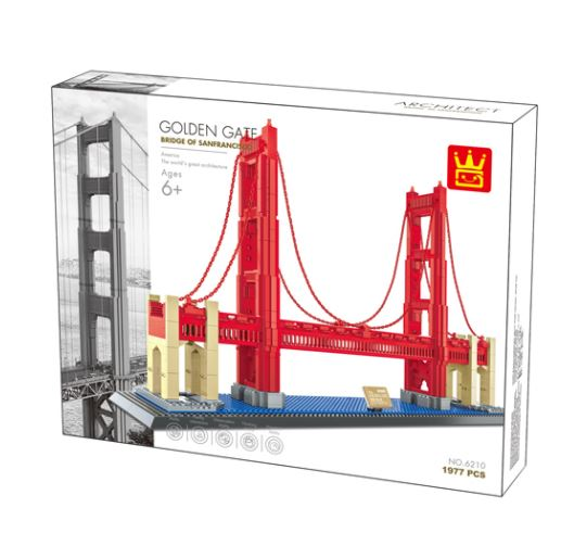 Wange 6210 Architect-Set The Golden Gate Bridge of San Fransisco 1977 Teile