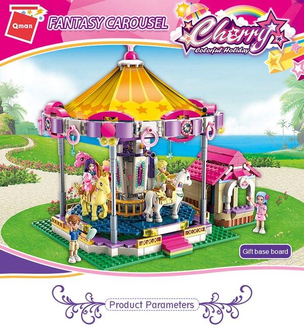 Qman 2016 Cherry Fantasie Karussell - Pferde Nostalgie Kirmes