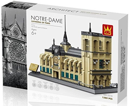 Wange 5210 Architect-Set The Notre-Dame Cathedral of Paris 1380 Teile