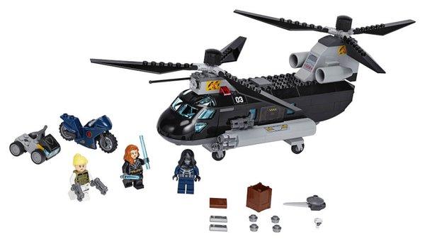 76162 LEGO® Marvel Super Heroes Black Widow s Helikopter-Verfolgungsjagd
